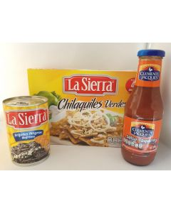 Kit listo - chilaquiles verts, haricots, sauce taquera